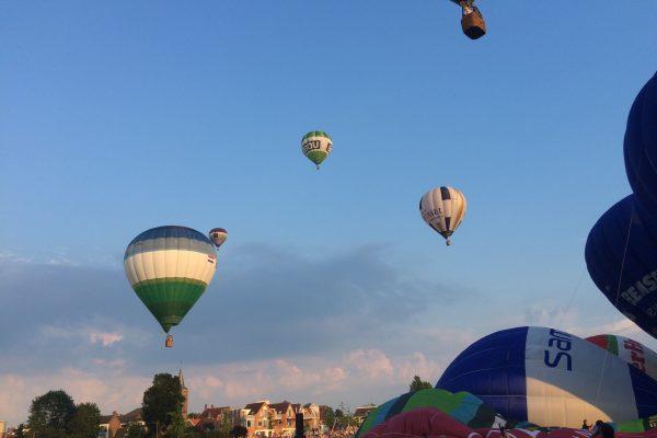 Luchtballonvaart gaat NIET door
